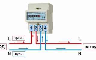 Схемы для подключения электросчетчиков