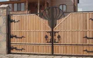 Ворота с калиткой для частного дома