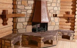 Камин-печь для деревянного дома