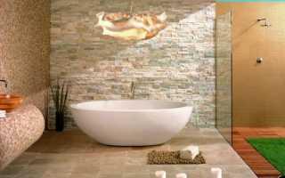 Ванная комната с искусственным камнем