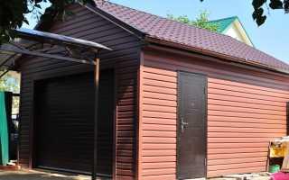Отделка гаража снаружи