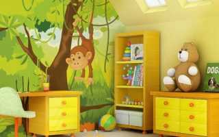 Какого цвета обои выбрать для детской комнаты