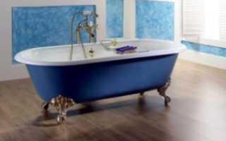 Чугунные ванны: размеры