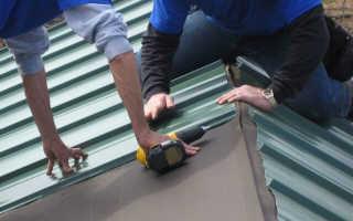Крепление профнастила на крыше саморезами