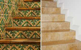 Плитка для ступеней лестницы в доме