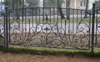 Как сделать кованый забор самостоятельно