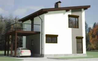 Установка стропильной системы для односкатной крыши