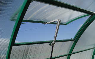 Как сделать вентиляцию в теплице из поликарбоната