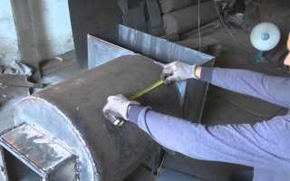 Печь для бани из вертикальной трубы