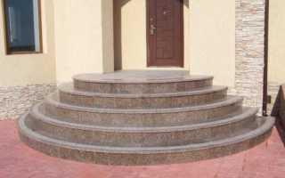 Полукруглое крыльцо из бетона