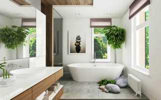 Интерьер ванной загородном доме