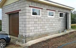 Фундамент под гараж на сваях, из блоков