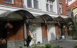 Требования к конструкции козырьков над входом