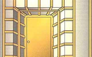 Отделка дверных откосов у входной двери