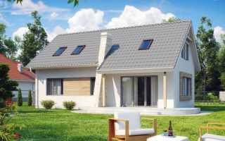 Проект небольшого каркасного дома с мансардой