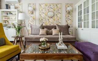 Как красиво скомбинировать обои для зала и гостиной