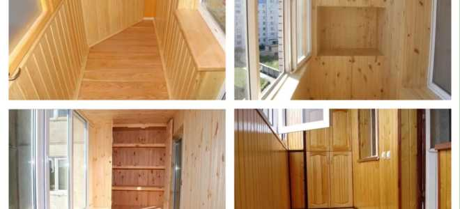 Отделка балкона и лоджии вагонкой