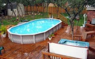 Мини-бассейн на даче