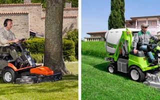 Применение садового райдера