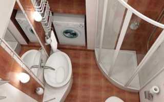 Интерьер совмещенного санузла с душевой кабиной