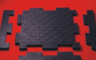 Резиновая плитка для гаража на пол