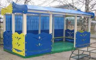 Как украсить беседку в детском саду