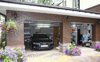 Проект гаража с хозблоком на две машины