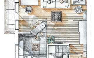 Варианты и примеры перепланировки однокомнатной квартиры
