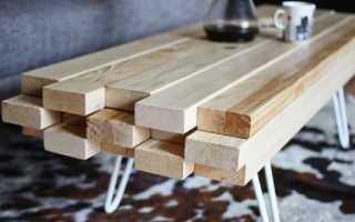Как сделать деревянный дачный стол