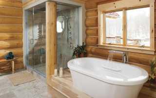 Пол в помывочной из плитки в бане