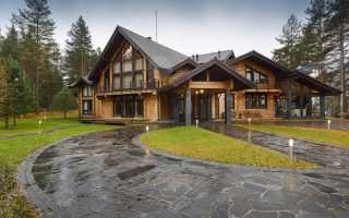 Красивые дома из бруса
