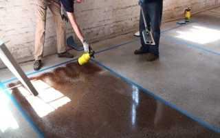 Как выбрать краску для бетонного пола в гараже
