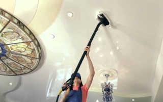 Как правильно помыть натяжной матовый потолок