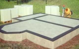 Фундамент-плита для дома из пеноблоков