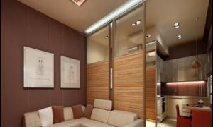 Декоративные перегородки между гостиной и кухней