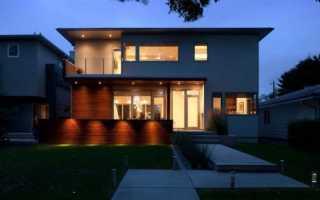 Наружное освещение фасада дома