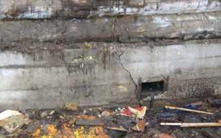 Замена старого фундамента деревянного дома