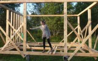 Технология строительства каркасного дома из бруса