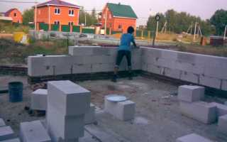 Столбчатый фундамент под дом из пеноблоков