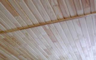 Монтаж и обшивка потолка вагонкой