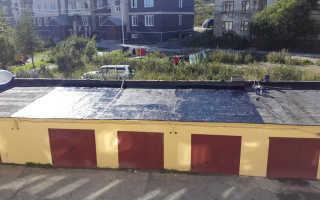 Как залить крышу гаража битумом
