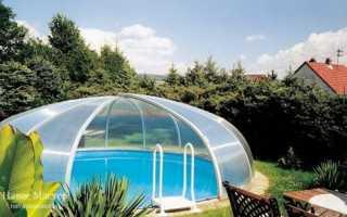 Как сделать навес для бассейна из поликарбоната
