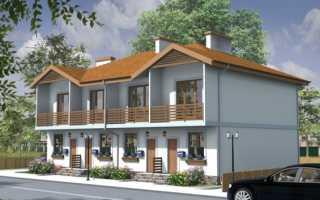 Проекты домов дуплексов на два хозяина