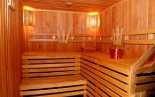 Отделка парилки в бане и сауне
