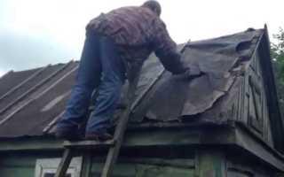 Как покрыть старую крышу профнастилом