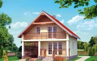 Популярные проекты домов с мансардой
