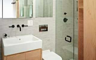 Современный ремонт маленькой ванной комнаты в хрущевке