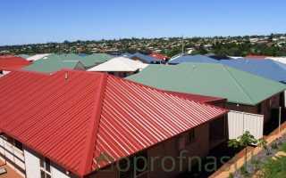 Цветной профнастил для крыши