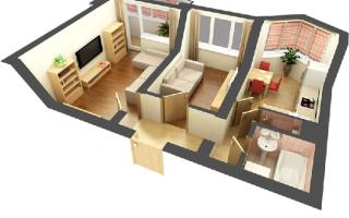 Варианты планировки хрущевки: 1,2,3 комнаты