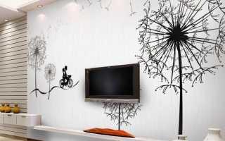Рисунки краской на стенах